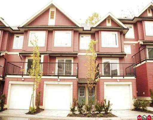"Main Photo: 36 6635 192ND Street in Surrey: Clayton Townhouse for sale in ""Leafside Lane"" (Cloverdale)  : MLS®# F2726999"