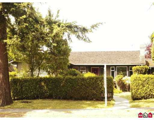 Main Photo: 13081 16TH Avenue in White_Rock: Crescent Bch Ocean Pk. House for sale (South Surrey White Rock)  : MLS®# F2714727