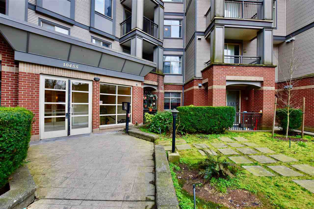 "Main Photo: 213 10455 UNIVERSITY Drive in Surrey: Whalley Condo for sale in ""D'Cor"" (North Surrey)  : MLS®# R2443325"