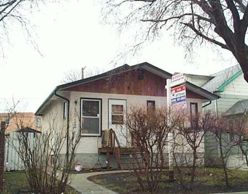 Main Photo: 1512 BANNATYNE Avenue West in Winnipeg: Brooklands / Weston Single Family Detached for sale (West Winnipeg)  : MLS®# 2504483