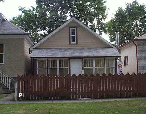 Main Photo: 727 ALVERSTONE Street in WINNIPEG: West End / Wolseley Single Family Detached for sale (West Winnipeg)  : MLS®# 2713977