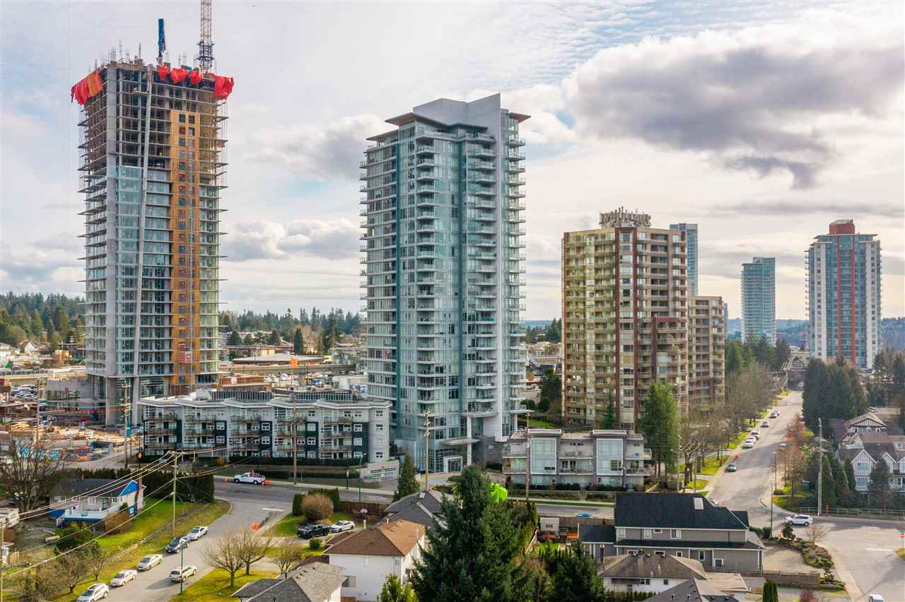 "Main Photo: 1602 520 COMO LAKE Avenue in Coquitlam: Coquitlam West Condo for sale in ""Crown"" : MLS®# R2450981"