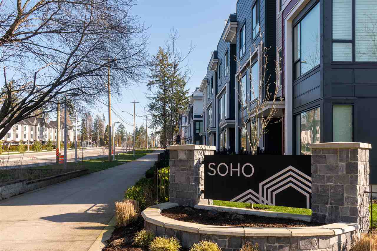 "Main Photo: 128 2280 163 Street in Surrey: Grandview Surrey Townhouse for sale in ""Soho"" (South Surrey White Rock)  : MLS®# R2461801"
