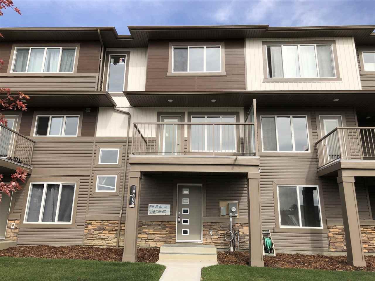 Main Photo: 19606 27 Avenue in Edmonton: Zone 57 Attached Home for sale : MLS®# E4203225