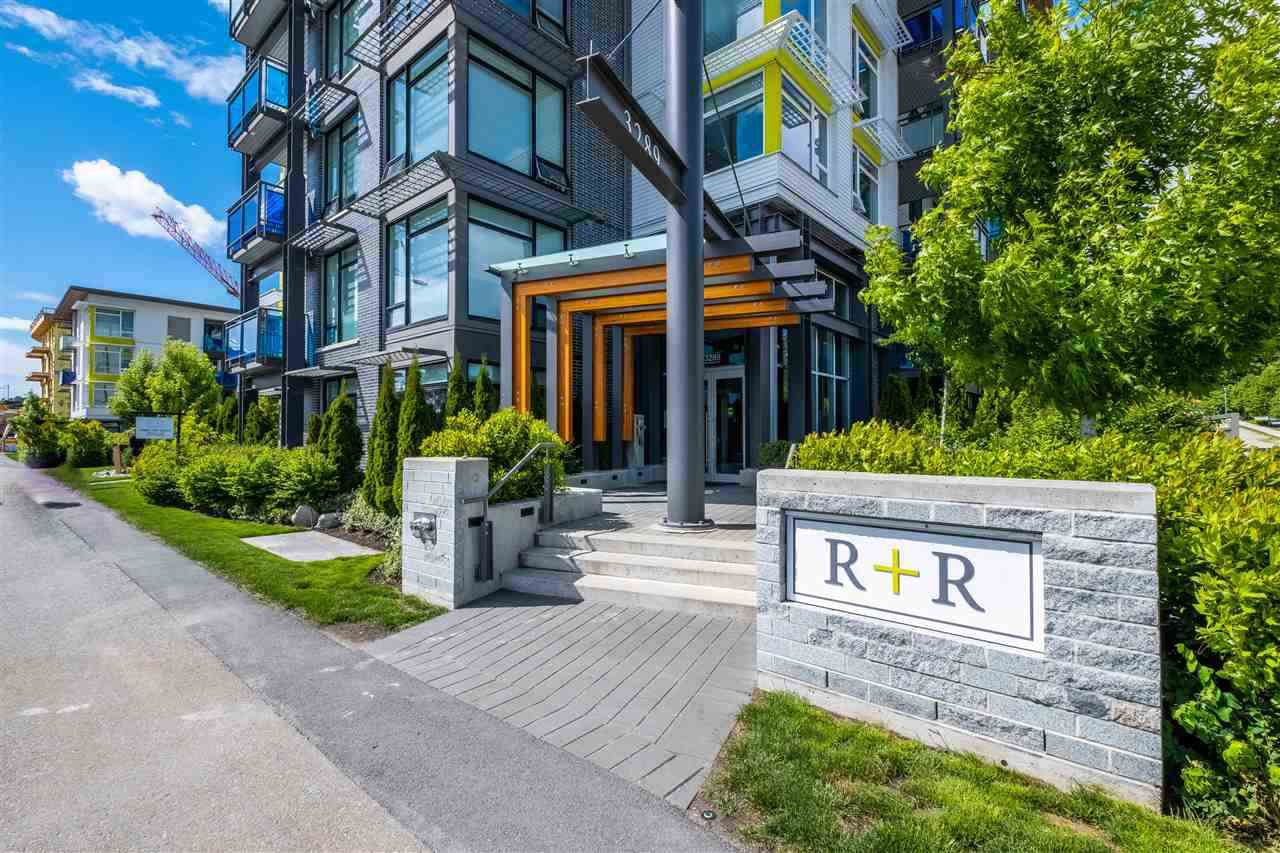 "Main Photo: 100 3289 RIVERWALK Avenue in Vancouver: South Marine Condo for sale in ""R & R"" (Vancouver East)  : MLS®# R2470251"