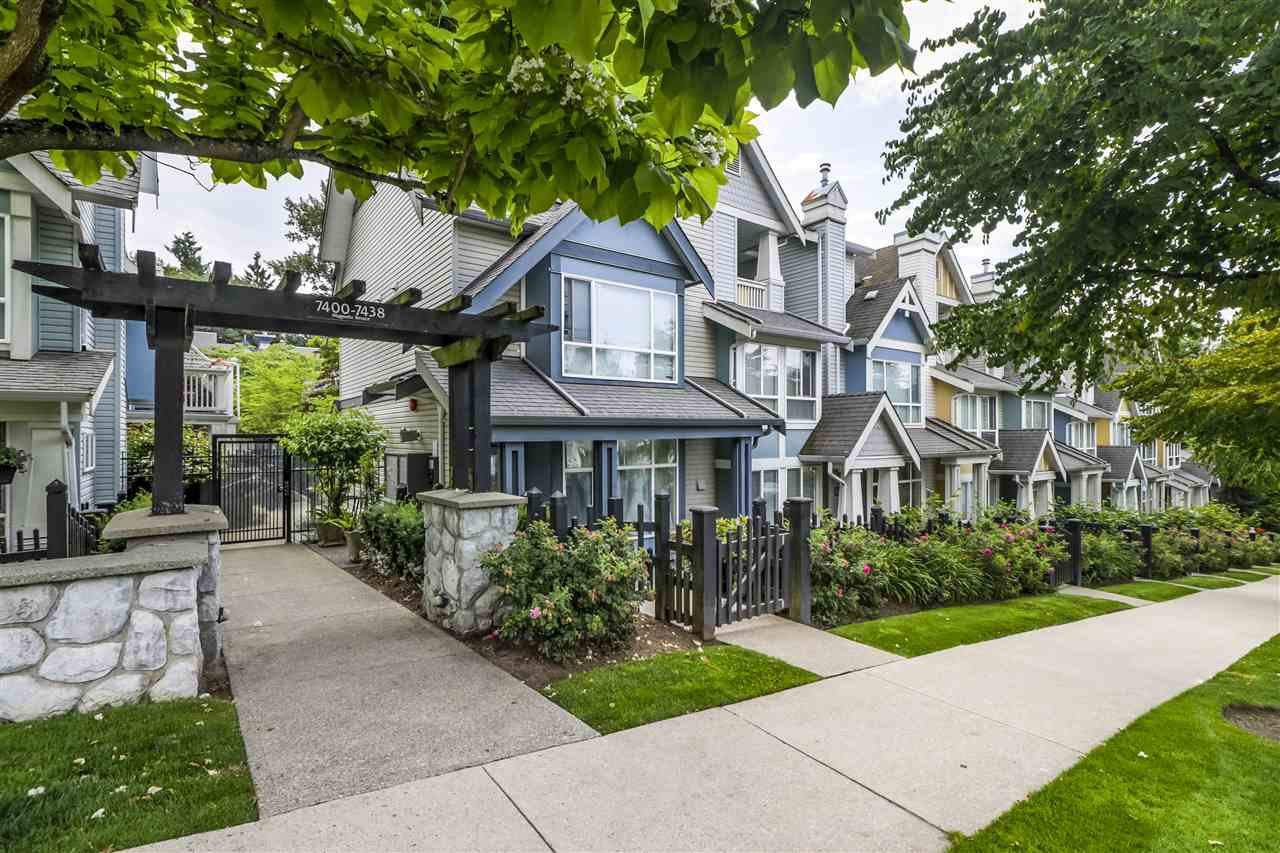 """Main Photo: 7436 MAGNOLIA Terrace in Burnaby: Highgate Townhouse for sale in """"CAMARILLO"""" (Burnaby South)  : MLS®# R2493267"""