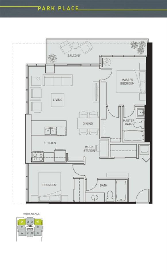 "Main Photo: 2404 13688 100 Avenue in Surrey: Whalley Condo for sale in ""PARK PLACE 1"" (North Surrey)  : MLS®# R2428987"