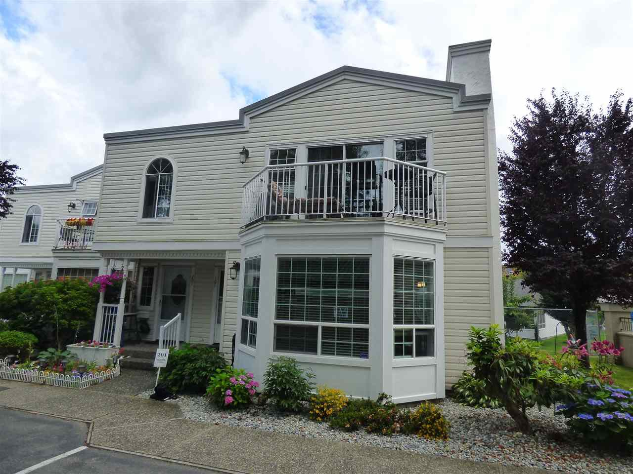 "Main Photo: 101 9540 COOK Street in Chilliwack: Chilliwack N Yale-Well Townhouse for sale in ""ROSE ARBOR"" : MLS®# R2388420"