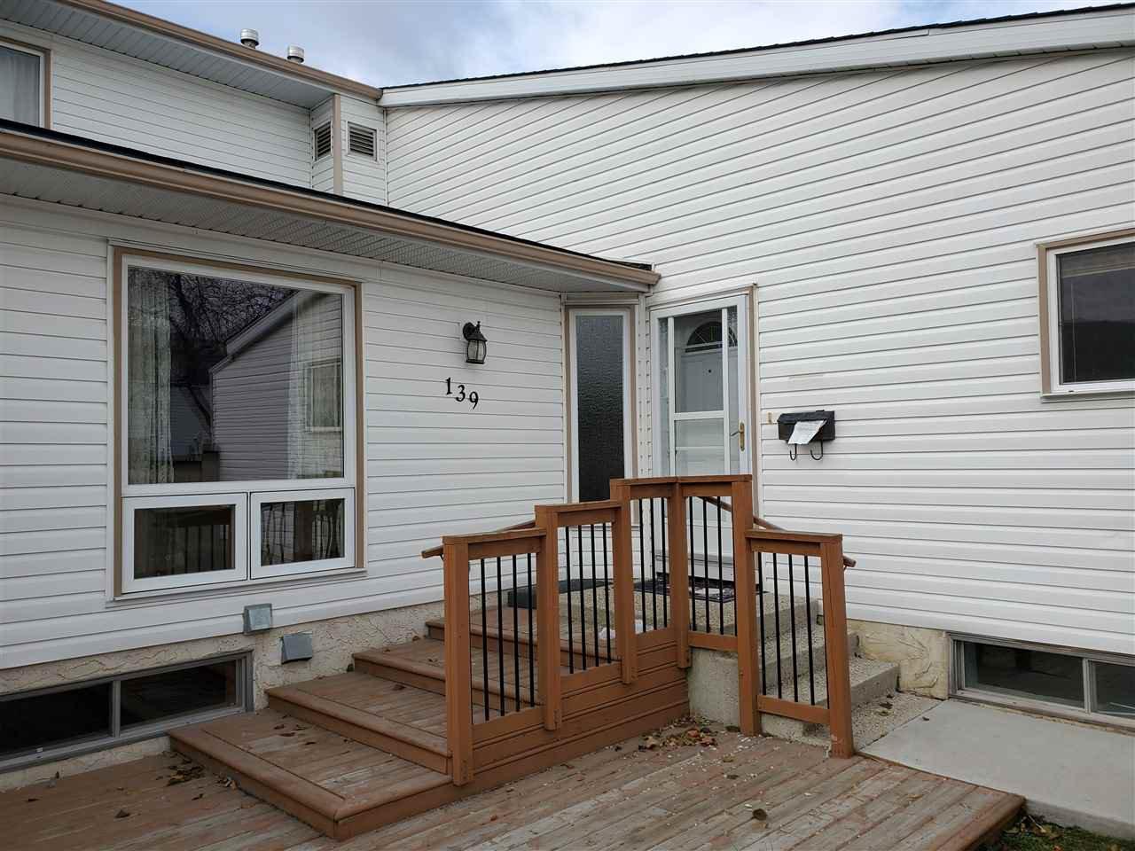 Main Photo: 139 MARLBOROUGH Place in Edmonton: Zone 20 Townhouse for sale : MLS®# E4178670