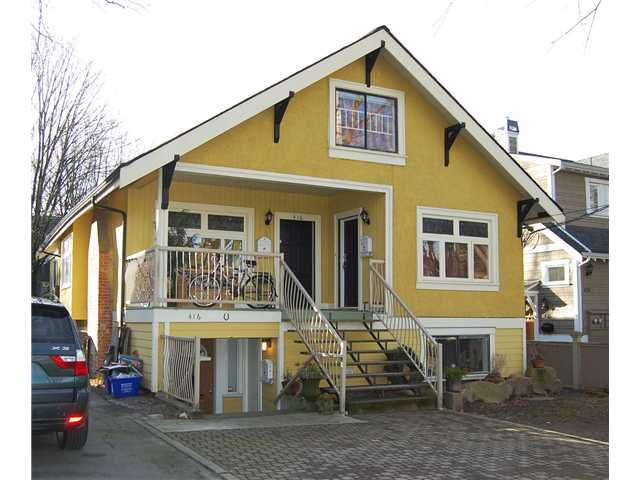 "Main Photo: 416 W 13TH AV in Vancouver: Mount Pleasant VW House for sale in ""CITY HALL"" (Vancouver West)  : MLS®# V868393"
