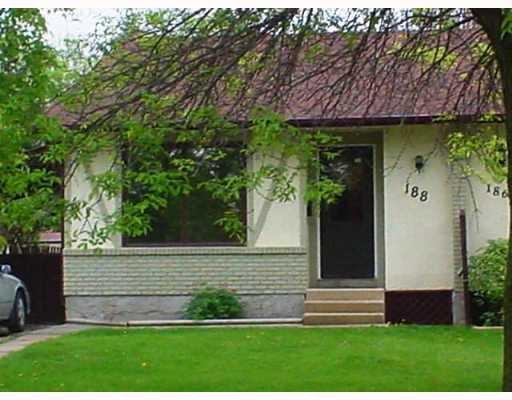Main Photo: 188 PENTLAND Street in WINNIPEGOS: North Kildonan Single Family Attached for sale (North East Winnipeg)  : MLS®# 2708559