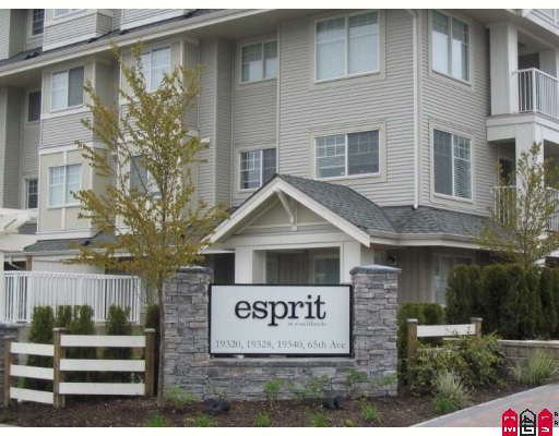 "Main Photo: 306 19320 65TH Avenue in Surrey: Clayton Condo for sale in ""Esprit"" (Cloverdale)  : MLS®# F2813593"
