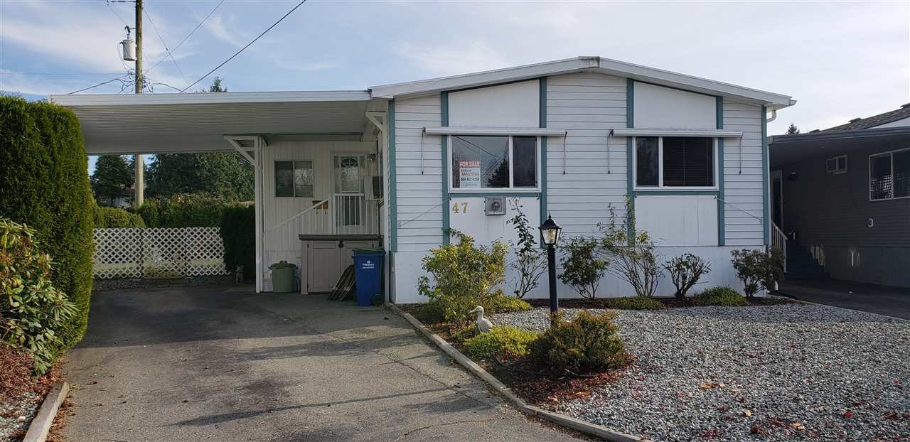 """Main Photo: 47 31313 LIVINGSTONE Avenue in Abbotsford: Abbotsford West Manufactured Home for sale in """"Paradise Park"""" : MLS®# R2416443"""