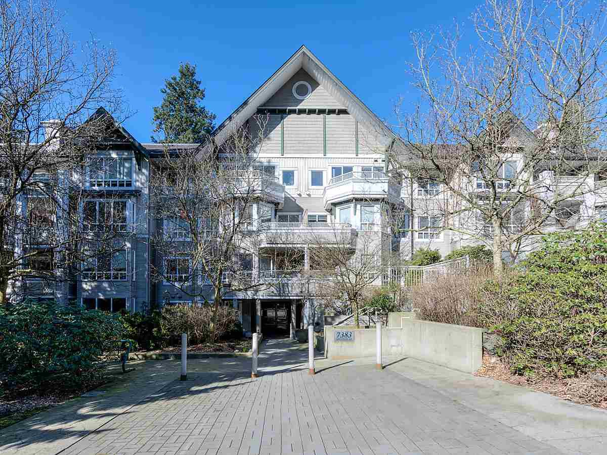 "Main Photo: 205 7383 GRIFFITHS Drive in Burnaby: Highgate Condo for sale in ""EIGHTEEN TREES"" (Burnaby South)  : MLS®# R2447150"