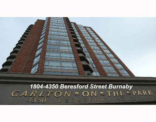 "Main Photo: 1804 4350 BERESFORD Street in Burnaby: Metrotown Condo for sale in ""CARLTON ON THE PARK"" (Burnaby South)  : MLS®# V640174"