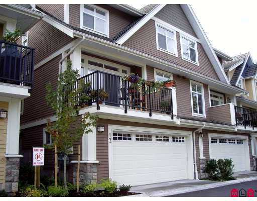 "Main Photo: 17 15237 36TH Avenue in Surrey: Morgan Creek Townhouse for sale in ""ROSEMARY WALK"" (South Surrey White Rock)  : MLS®# F2726072"