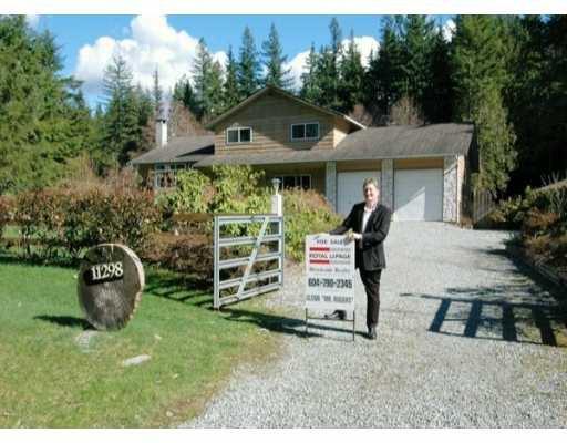 Main Photo: 11298 280TH Street in Maple Ridge: Whonnock House for sale : MLS®# V635947