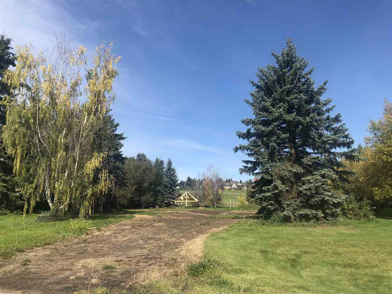 Main Photo: 140 FERNWOOD Crescent: Rural Sturgeon County Rural Land/Vacant Lot for sale : MLS®# E4173564