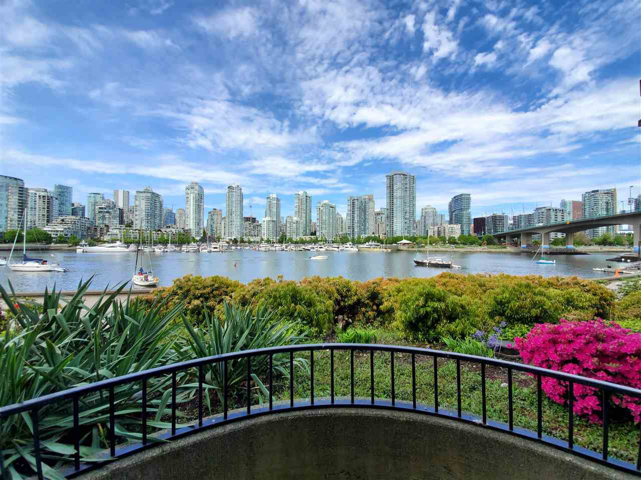 """Main Photo: 113 1859 SPYGLASS Place in Vancouver: False Creek Condo for sale in """"San Remo Court"""" (Vancouver West)  : MLS®# R2455920"""