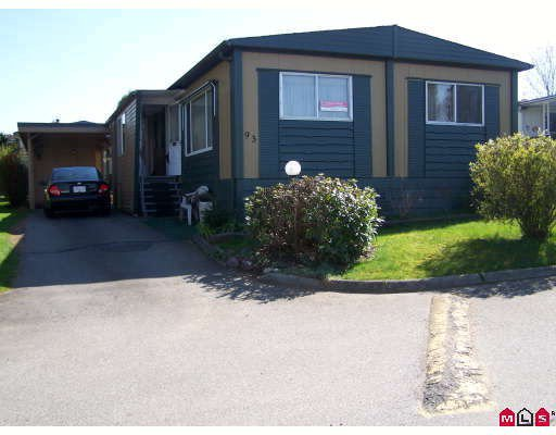 "Main Photo: 93 1884 MCCALLUM Road in ABBOTSFORD: Central Abbotsford Manufactured Home for sale in ""GARDEN VILLAGE"" (Abbotsford)  : MLS®# F2908962"