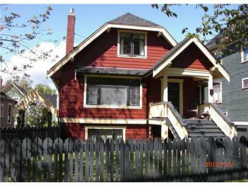 Main Photo: 89 W 11TH Avenue in Vancouver: Mount Pleasant VW House for sale (Vancouver West)  : MLS®# V847773