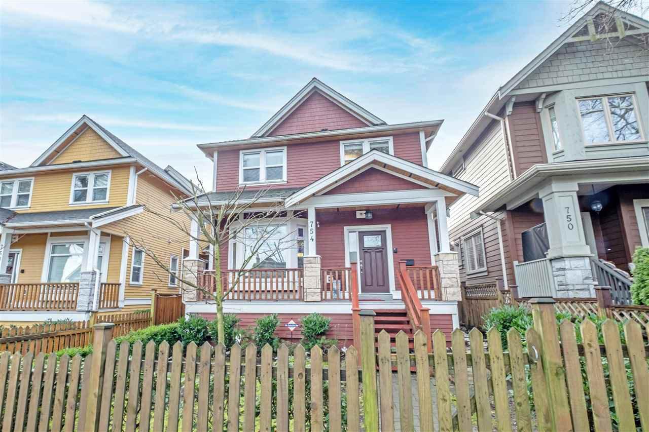 Main Photo: 754 E 12TH Avenue in Vancouver: Mount Pleasant VE 1/2 Duplex for sale (Vancouver East)  : MLS®# R2528099