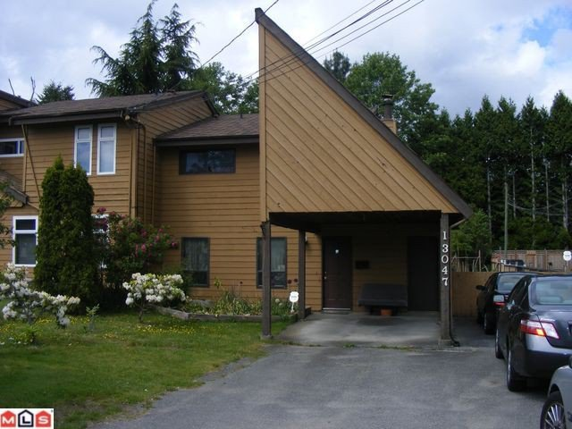 Main Photo: 13047 88TH Avenue in Surrey: Queen Mary Park Surrey 1/2 Duplex for sale : MLS®# F1014058