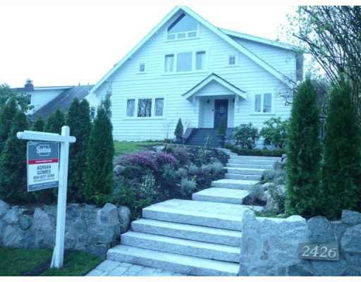 Main Photo: 2426 W 33RD Avenue in Vancouver: Quilchena House for sale (Vancouver West)  : MLS®# V762832