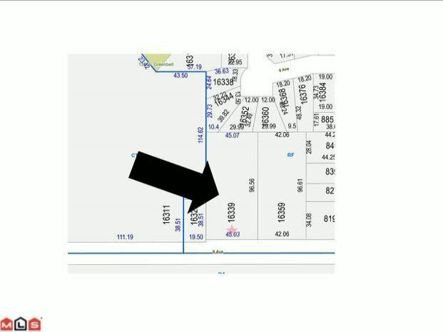 Main Photo: 16339 8TH Avenue in Surrey: King George Corridor Land for sale (South Surrey White Rock)  : MLS®# F1018936