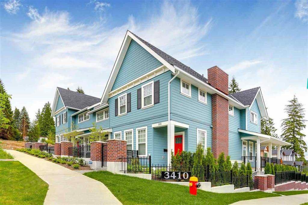 Main Photo: 104 3410 QUEENSTON Avenue in Coquitlam: Burke Mountain Condo for sale : MLS®# R2396959