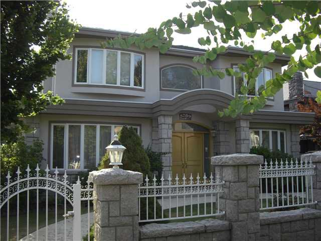 Main Photo: 5789 CARTIER Street in Vancouver: South Granville House for sale (Vancouver West)  : MLS®# V845274