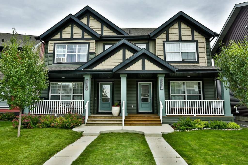 Main Photo: 5681 CRABAPPLE Way in Edmonton: Zone 53 House Half Duplex for sale : MLS®# E4207512