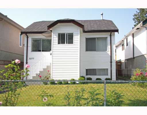 Main Photo: 3277 E 8TH Avenue in Vancouver: Renfrew VE House for sale (Vancouver East)  : MLS®# V772436