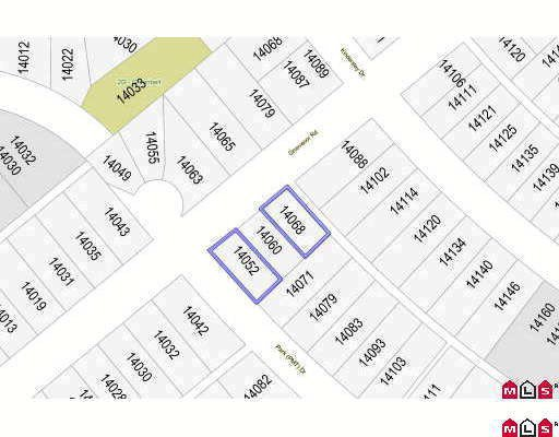 Main Photo: 14052 GROSVENOR Road in Surrey: Bolivar Heights Land for sale (North Surrey)  : MLS®# F2922625
