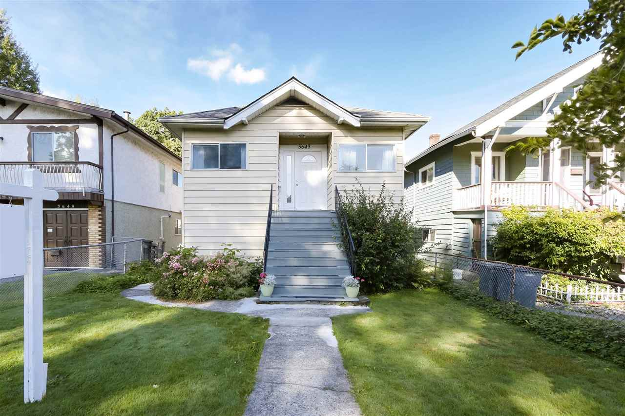 "Main Photo: 3643 PRINCE ALBERT Street in Vancouver: Fraser VE House for sale in ""Fraserhood"" (Vancouver East)  : MLS®# R2509230"