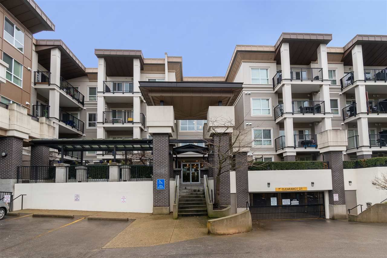 "Main Photo: 418 9655 KING GEORGE Boulevard in Surrey: Whalley Condo for sale in ""Gruv"" (North Surrey)  : MLS®# R2528633"