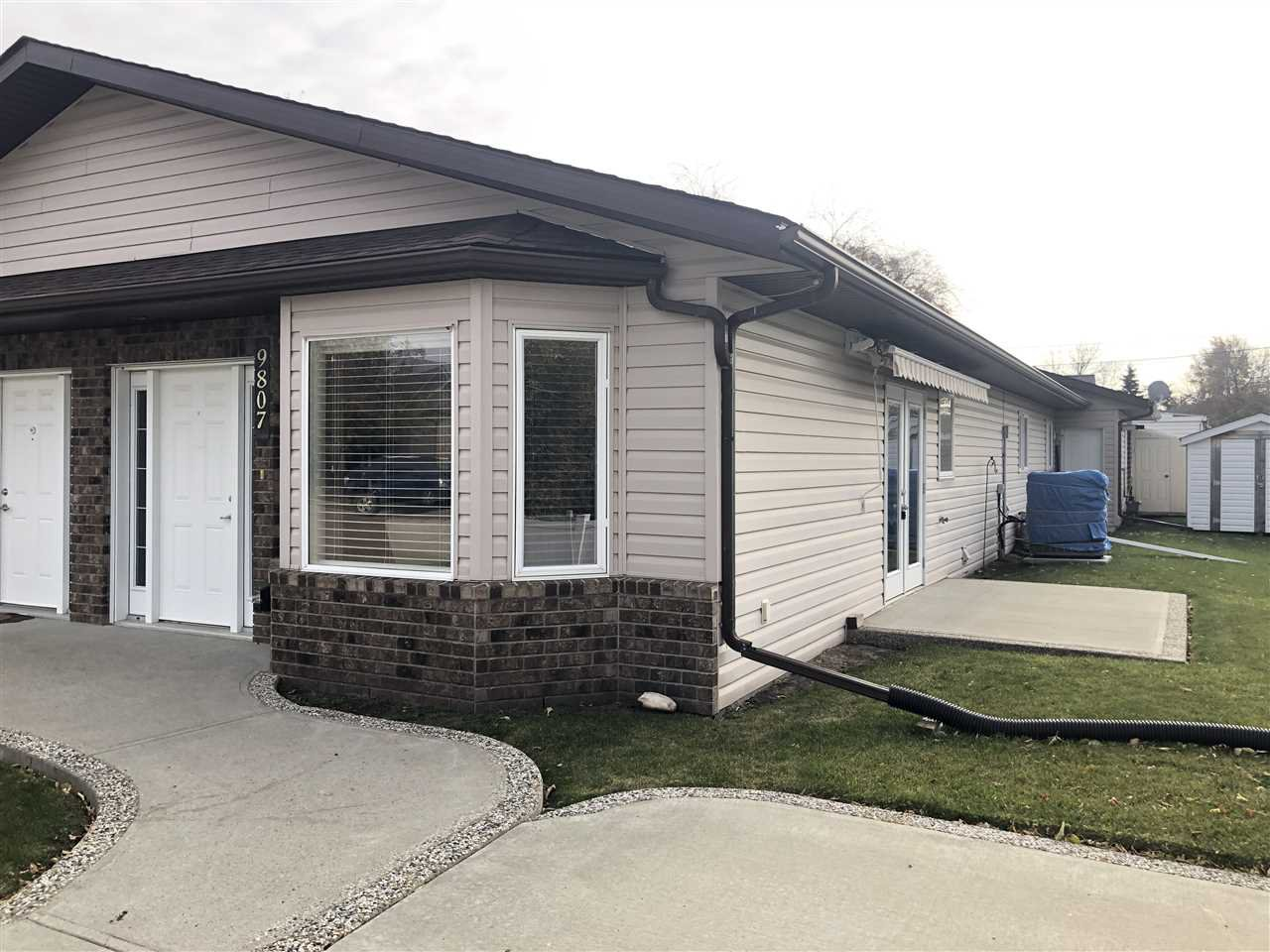 Main Photo: 9807 106 Street: Westlock House Half Duplex for sale : MLS®# E4176772
