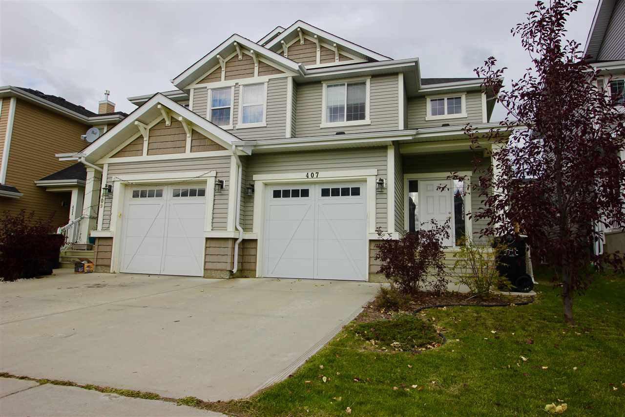 Main Photo: 407 SIMMONDS Way: Leduc House Half Duplex for sale : MLS®# E4198101