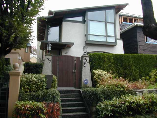Main Photo: 1985 MCNICOLL Avenue in Vancouver: Kitsilano House 1/2 Duplex for sale (Vancouver West)  : MLS®# V854385