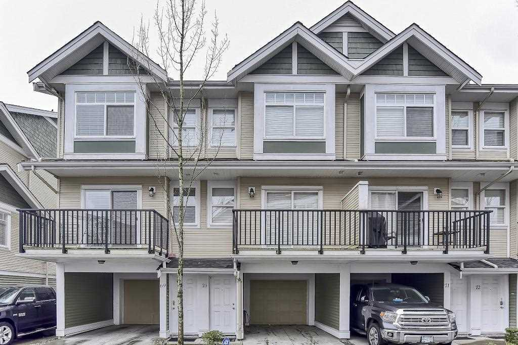 "Main Photo: 70 8676 158 Street in Surrey: Fleetwood Tynehead Townhouse for sale in ""SPRINGFIELD VILLAGE"" : MLS®# R2439365"