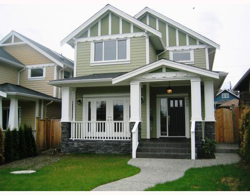 Main Photo: 312 HOLMES Street in New_Westminster: The Heights NW House for sale (New Westminster)  : MLS®# V766704