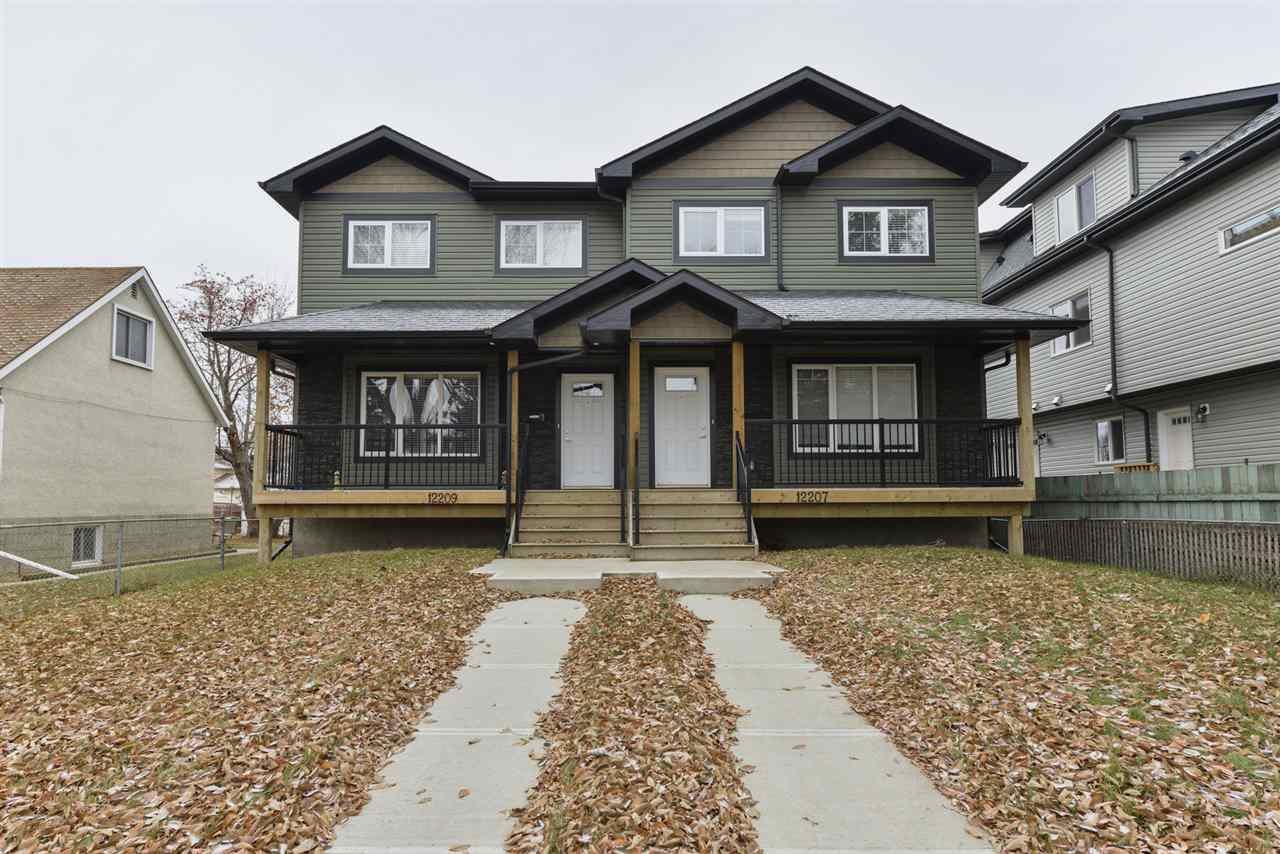 Main Photo: 12207 103 Street in Edmonton: Zone 08 House Half Duplex for sale : MLS®# E4179047