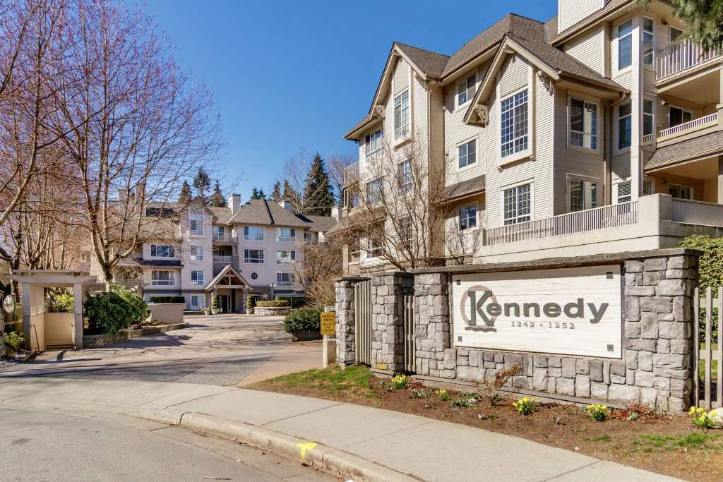 "Main Photo: 206 1242 TOWN CENTRE Boulevard in Coquitlam: Canyon Springs Condo for sale in ""THE KENNEDY"" : MLS®# R2510790"