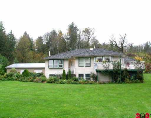 Main Photo: 3081 ELDRIDGE RD in Abbotsford: Sumas Mountain House for sale : MLS®# F2612754