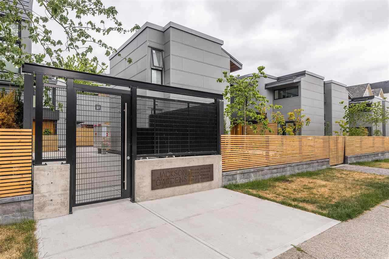"""Main Photo: 7 503 E PENDER Street in Vancouver: Strathcona Townhouse for sale in """"Jackson Gardens"""" (Vancouver East)  : MLS®# R2429590"""