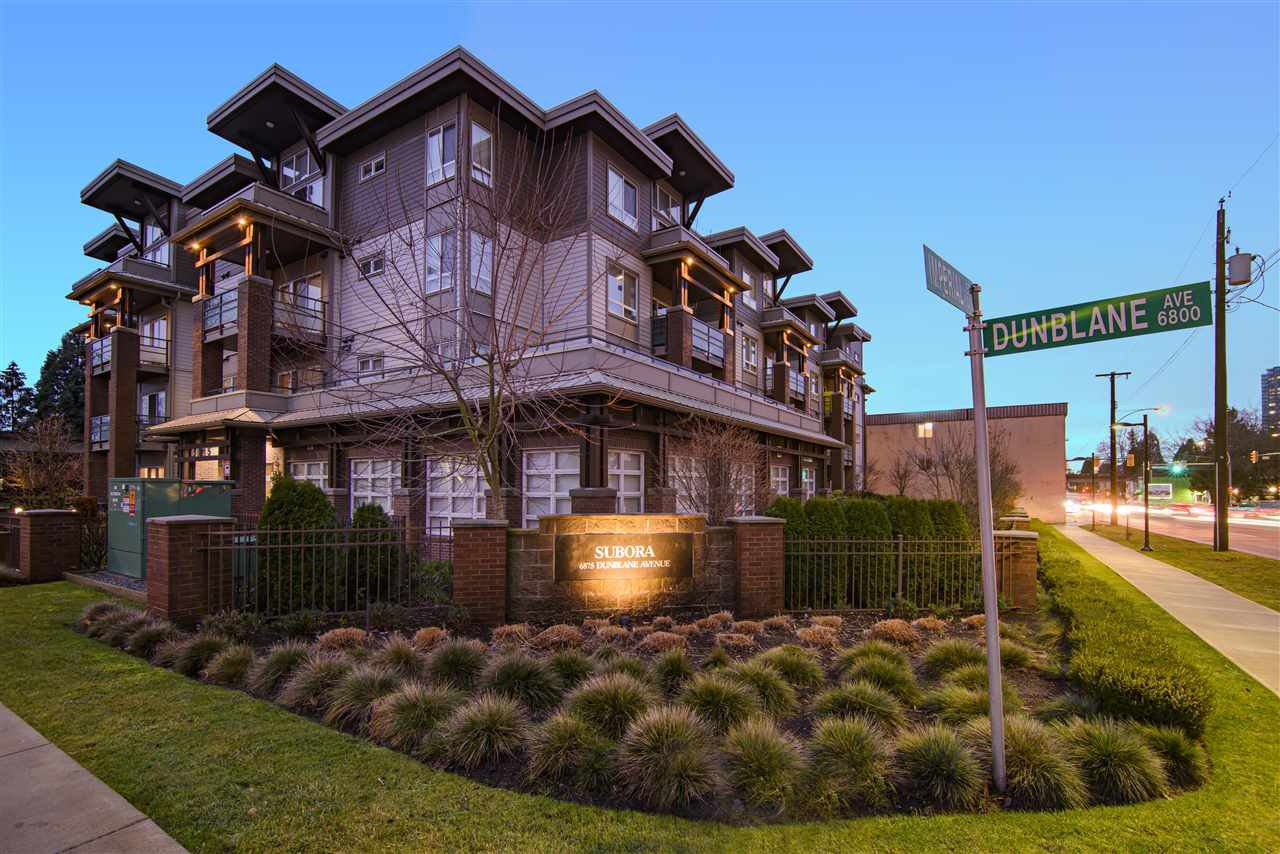 """Main Photo: 302 6875 DUNBLANE Avenue in Burnaby: Metrotown Condo for sale in """"SUBORA"""" (Burnaby South)  : MLS®# R2524405"""