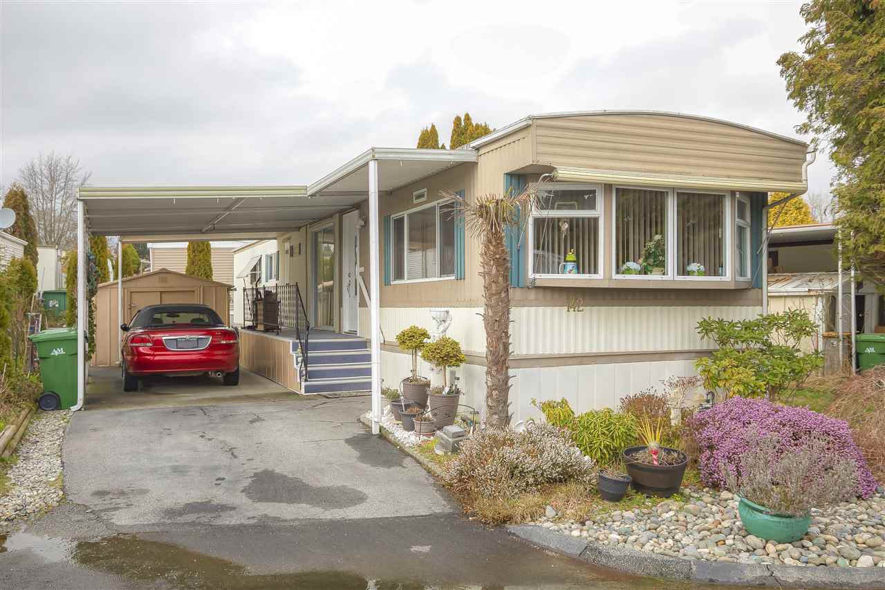 "Main Photo: 142 1840 160 Street in Surrey: King George Corridor Manufactured Home for sale in ""King George Corridor"" (South Surrey White Rock)  : MLS®# R2440942"