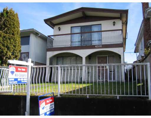 Main Photo: 4312 ONTARIO Street in Vancouver: Main House for sale (Vancouver East)  : MLS®# V803469