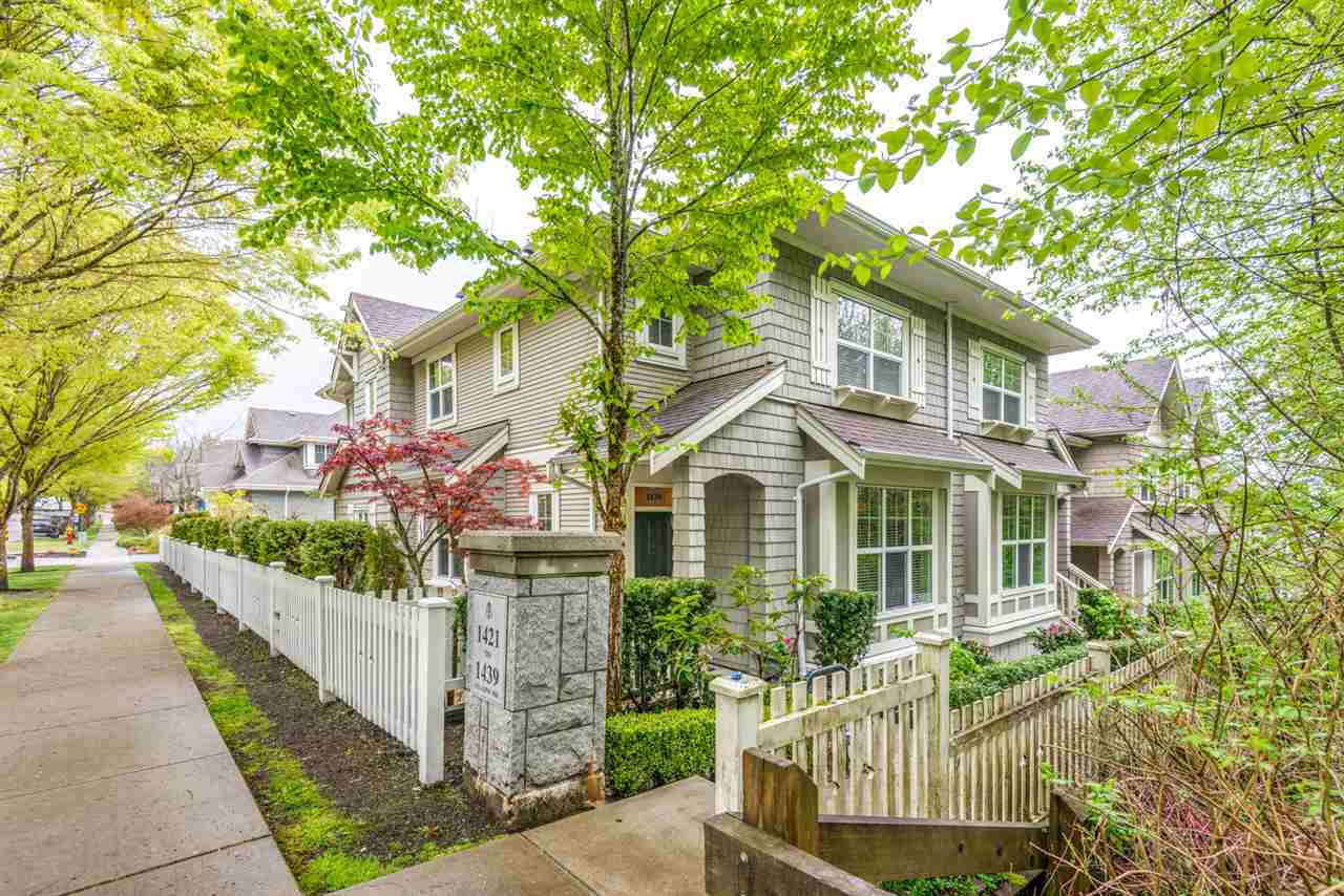 "Main Photo: 1439 COLLINS Road in Coquitlam: Burke Mountain Townhouse for sale in ""Belmont West by Polygon"" : MLS®# R2452705"