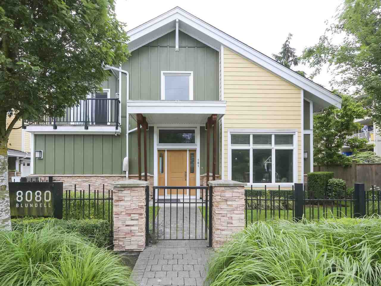 """Main Photo: 101 8080 BLUNDELL Road in Richmond: Garden City Townhouse for sale in """"YEW TOWNHOMES"""" : MLS®# R2400683"""